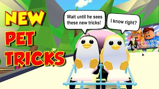 EVERY **NEW** PET PENGUIN TRICK - ROBLOX Adopt Me Pets