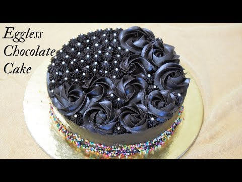 Eggless Chocolate Cake Recipe~Easy And Perfect Chocolate Cake Recipe~Food Connection