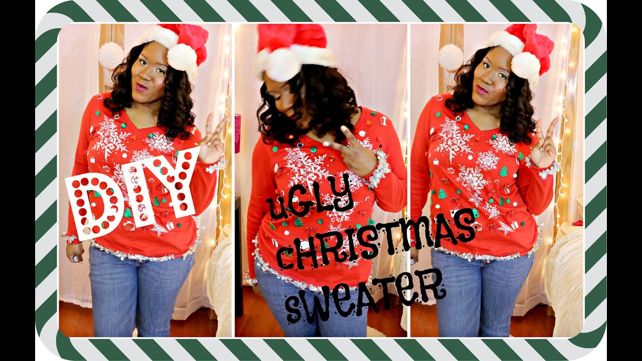 diy ugly christmas sweater easy christmas budget friendly youtube