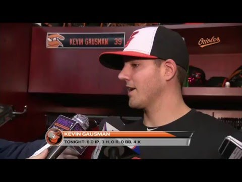 Kevin Gausman speaks after eight shutout innings