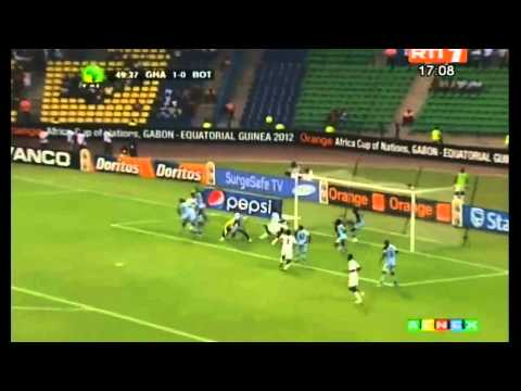 Orange Africa Cup Of Nations 2012 - Ghana vs Botswana 1-0 Highlights