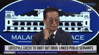 Lifestyle check to sniff out drug-linked public servants
