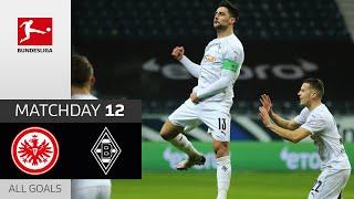 Last Second Goal saves Gladbach 1-3 down | Frankfurt - M'gladbach | 3-3 | All Goals | Matchday 12