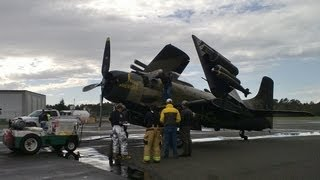 Douglas A-1 Skyraider Emergency Deadstick Landing [ATC Audio/Heritage Flight]