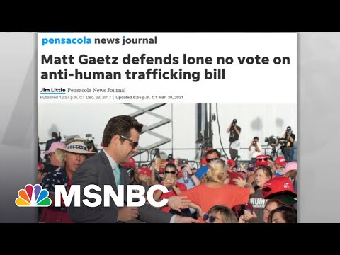 Gaetz Vote Against Anti-Human Trafficking Bill Seen In New Light Against Probe Revelation