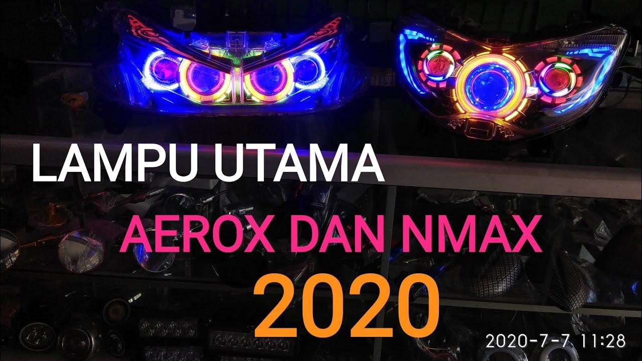 Lampu projie hid dan LED untuk aerox 155 dan nmax 155  2020