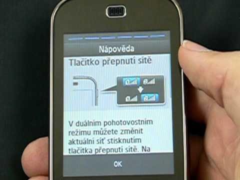 Samsung B5722 DuoS zapínání a funkce DualSIM
