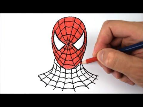 Aprenda A Desenhar E Pintar A Mascara Do Homem Aranha Youtube