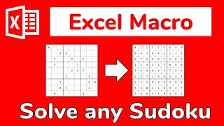 Excel Macro: Solve the world's HARDEST Sudoku with VBA - Doctor Excel #087