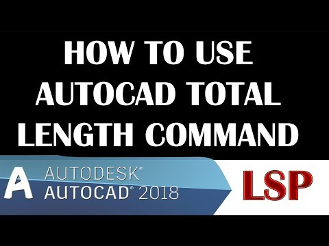 how to use Autocad Total Length Command