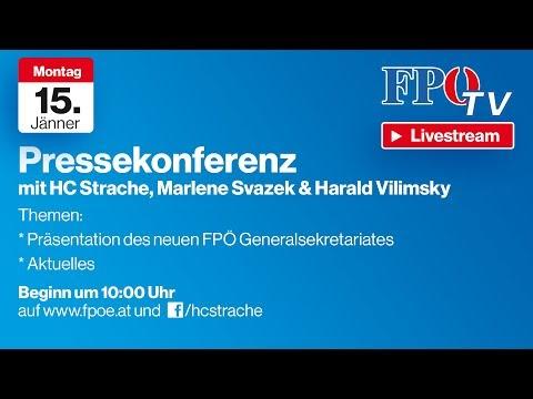 Strache Pressekonferenz