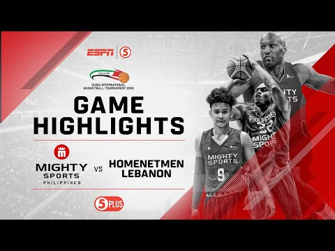 Highlights: Mighty Sports vs. Homenetmen Lebanon | 2019 Dubai International Basketball Championship