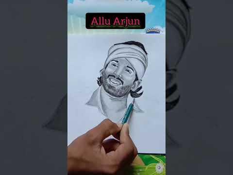 allu-arjun- -movie's-best-look- -sketch- -allu-arjun- -drawing
