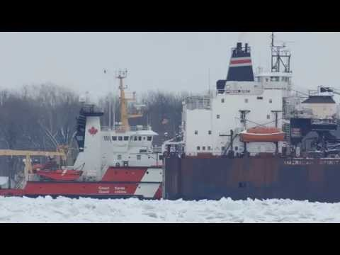 St. Clair River Icebreaking January 12, 2015