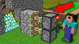 Minecraft NOOB vs PRO : NOOB BROKE VILLAGER HOUSE AND FOUND RAREST TREASURE! Challenge 100% trolling