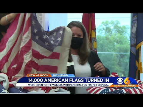 American Flag Turned In For Proper Disposal