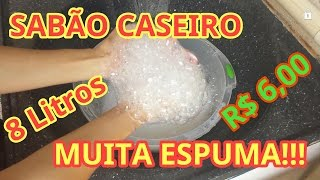 SABÃO LÍQUIDO PARA ROUPAS CASEIRO SIMILAR AO DE MERCADO