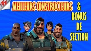 [FORTNITE-SAUVER THE WORLD] BEST BUILDERS AND SECTION BONUS