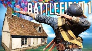 BATTLEFIELD 1 FLYING HOUSE EASTER EGG! - Battlefield 1 DLC Floating House Easter Egg