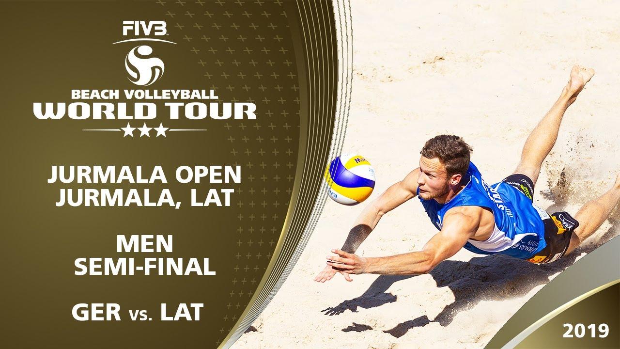 Men's Semi-Final: GER vs. LAT | 3* Jurmala (LAT) - 2019 FIVB Beach Volleyball World Tour