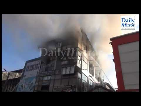 Fire broke out at a building in Kandy