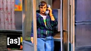 I'm In a Phone Booth! | Robot Chicken | Adult Swim(Dave tries out some awesome technology. SUBSCRIBE: http://bit.ly/AdultSwimSubscribe About Robot Chicken: Robot Chicken is Adult Swim's long-running ..., 2011-12-20T21:08:48.000Z)