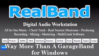 GarageBand for Windows (RealBand 2015) NOW REALESED !