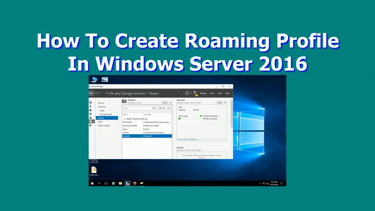 How To Create Roaming Profile In Windows Server 2016