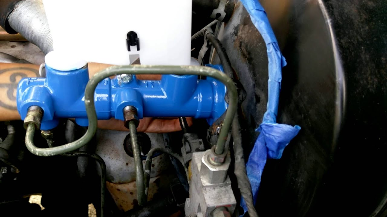 Brake Master Cylinder >> Brake Master Cylinder replacement on 1990 Mazda B2200 ...