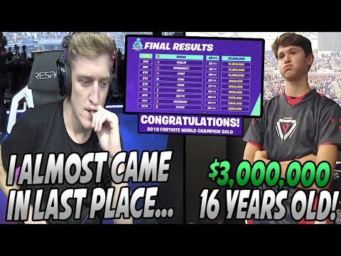 Tfue HEARTBROKEN After Barely Getting ANY Points In The World Cup Solo Finals! BUGHA'S A MILLIONAIRE