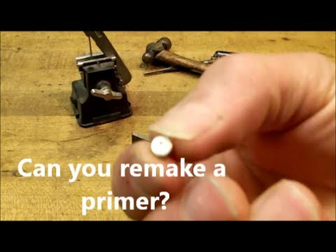 What if you can't buy primers for handloading, DIY ammo option