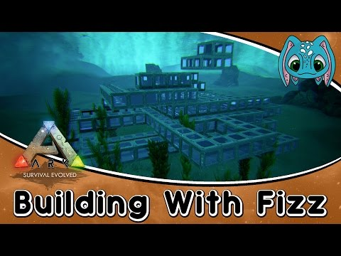 ARK:Survival Evolved Building w/ Fizz :: Underwater PVP Arena on the Center
