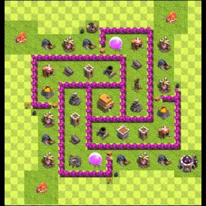 clash of clans dicas  monte seu layout cv 6