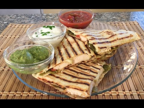 How To Make Chicken Green Chile Cheese Quesadillas