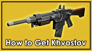 Destiny Rise of Iron: How to Get The Exotic Khvostov 7G-0X (Weapon Part Locations)