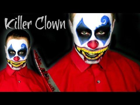KILLER CLOWN MAKEUP TUTORIAL - 동영상