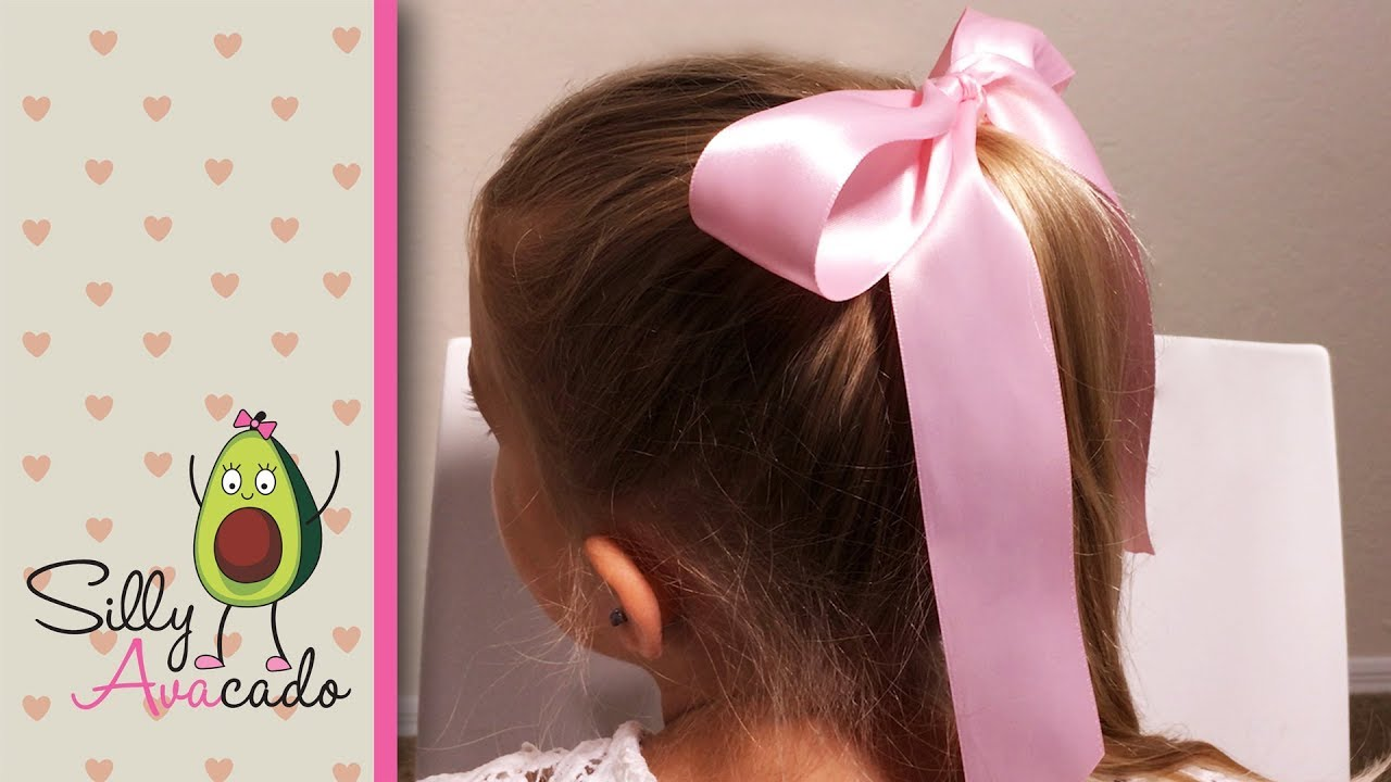 How To Tie A Perfect Bow Easy Ribbon Hair Bow Tutorial Youtube