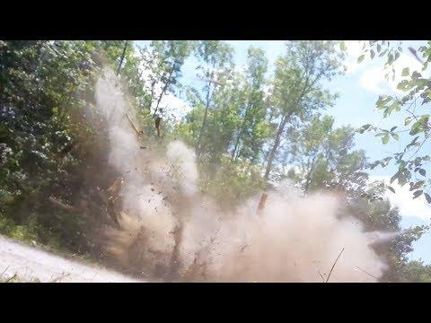 Dynamiting Tree Stumps