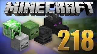 Todas Cabeças de MOBS NO SURVIVAL - Minecraft Em busca da casa automática #218