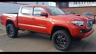 2016 Toyota Tacoma Lifted Double Cab TRD Sport Manual with custom leather.