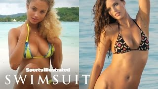 Rose Bertram and Emily DiDonato Play Never Have I Ever | Sports Illustrated Swimsuit