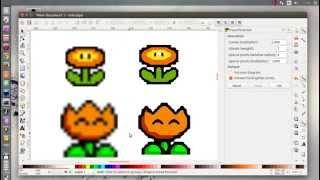 Inkscape 0.91 pre Trace Pixel Art