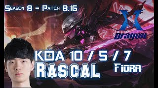 KZ Rascal FIORA vs SION Top - Patch 8.16 KR Ranked