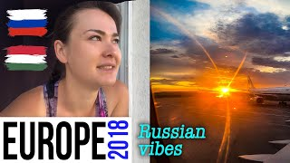 Travelling to Europe VLOG Tokyo airport, Moscow, Russia, Budapesht Hungary, AirBNB
