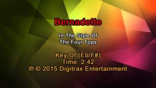 Four Tops - Bernadette (Backing Track)