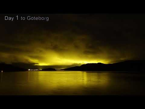Germany to northern Norway to Germany timelapse