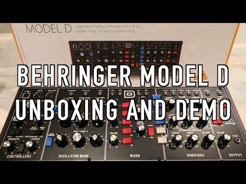 Behringer Model D Unboxing and Demo!