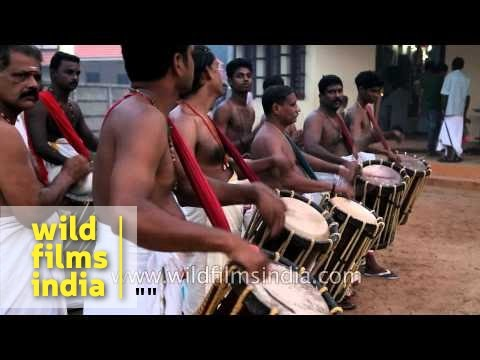 Chenda Melam group during Mother Mary Feast Day in Kerala