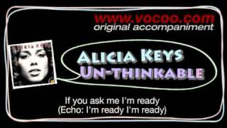 Alicia Keys  - Un-thinkable (Karaoke/original accompaniment / Instrumental / lyrics)