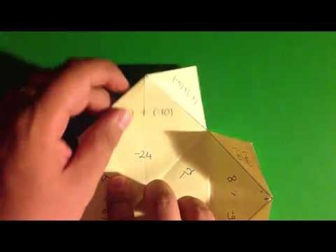 Katlamatematik Foldable Integer Operation Puzzle